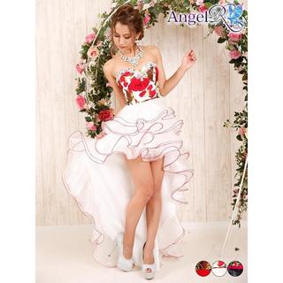 エンジェルアール(AngelR)の【最終値下】AngelR薔薇柄ウェディングテールカットロングドレス¥12000→(ロングドレス)