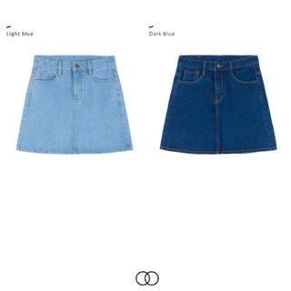 ミックスエックスミックス(mixxmix)のデニムスカート(ひざ丈スカート)