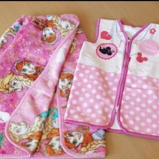 ディズニー(Disney)の巻いて使えるラップ毛布とスリーパーかいまき毛布 2枚セット(毛布)