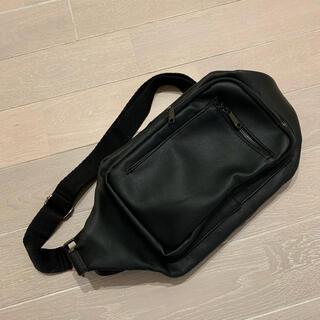 ザラ(ZARA)の使用少【ZARA】メンズ ボディバッグ ショルダーバッグ ブラック 黒 (ボディーバッグ)