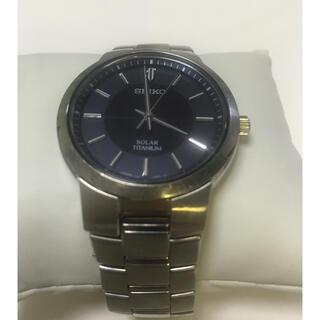 セイコー(SEIKO)の[ジャンク]SEIKO ソーラー 腕時計 V181-0AB0(腕時計(アナログ))