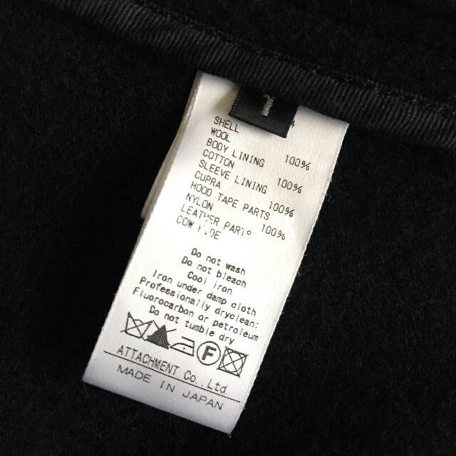 ATTACHIMENT(アタッチメント)の【美品・定価7.1万】アタッチメント▲ヘビーメルトンショートダッフルコート メンズのジャケット/アウター(ダッフルコート)の商品写真