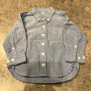 MUJI (無印良品) - 無印 オックスフォードシャツ 長袖 80 ブルー