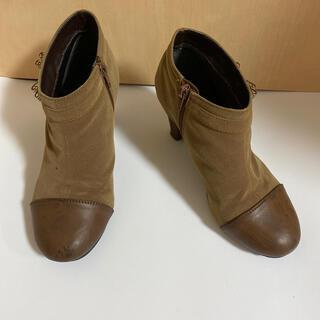 ブーティ ブーツ ブラウン 茶色 リボン(ブーティ)