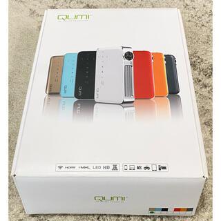 QUMI Q6 モバイルLEDプロジェクター ゴールド Q6-GD(プロジェクター)