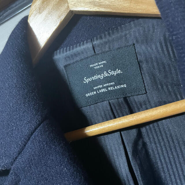 green label relaxing(グリーンレーベルリラクシング)のCB ダブルフェイス MLTN ピーコート レディースのジャケット/アウター(ピーコート)の商品写真