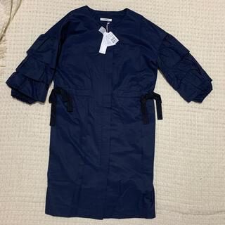 スコットクラブ(SCOT CLUB)の【新品】petit poudre 袖フリルのワンピースコート(トレンチコート)