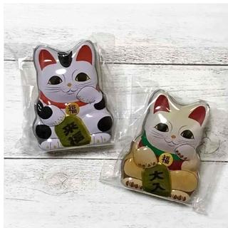 カルディ(KALDI)のカルディ 招き猫缶 2個セット(菓子/デザート)