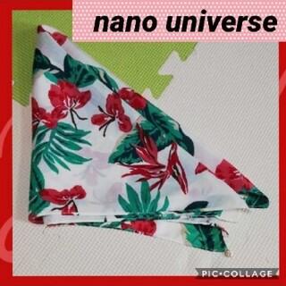 ナノユニバース(nano・universe)のナノ・ユニバース 花柄スカーフ(バンダナ/スカーフ)