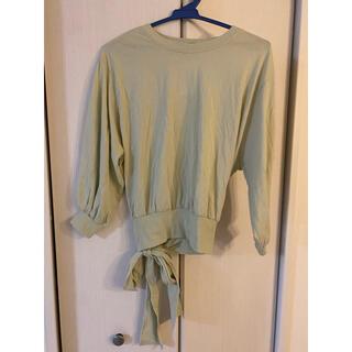 ダブルクローゼット(w closet)の(新品未使用) Wcloset ピスタチオスウェット(トレーナー/スウェット)