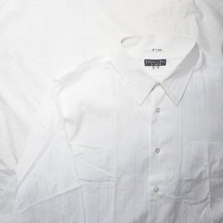 クリスチャンディオール(Christian Dior)のChristion Dior SOGOオーダーホワイトストライプシャツ 7号(シャツ)