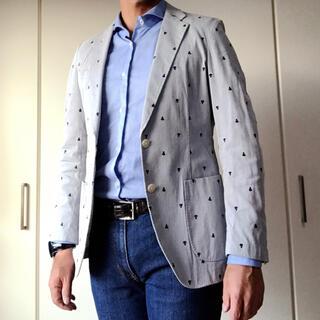 スーツカンパニー(THE SUIT COMPANY)のスーツカンパニー コードレーンジャケット 中古 ネイビー(テーラードジャケット)