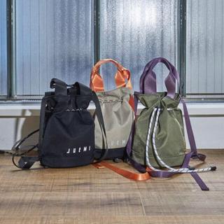 アリシアスタン(ALEXIA STAM)の完売品Reflector Drawstring Bag L size 黒 (ショルダーバッグ)