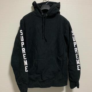 シュプリーム(Supreme)の16SS SUPREME x ANTIHERO パーカー  ブラック Sサイズ(パーカー)
