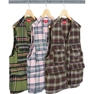 シュプリーム(Supreme)の20FW Supreme Tartan Flannel Cargo Vest(ベスト)