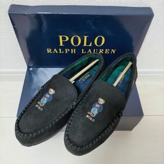 POLO RALPH LAUREN - 新品 ポロラルフローレン ポロベア スエードモカシン 黒 27.0cm