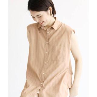 イエナ(IENA)のIENA R/Pストライプ ノースリーブシャツ(シャツ/ブラウス(半袖/袖なし))