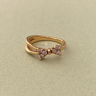 ポンテヴェキオ(PonteVecchio)のポンテヴェキオ K18 ダイヤモンド ピンキーリング イエローゴールド リボン(リング(指輪))