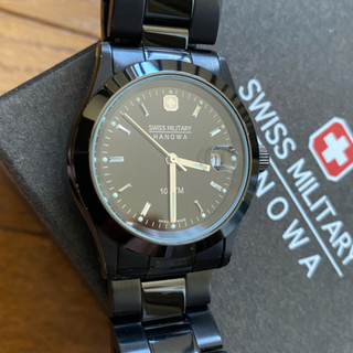 SWISS MILITARY - スイスミリタリー 腕時計 エレガントブラック ML132