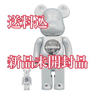 メディコムトイ(MEDICOM TOY)のBE@RBRICK atmos WHITE CHROME 100% & 400%(その他)