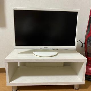 アクオス(AQUOS)のSHARP AQUOS液晶カラーテレビ22v型 ホワイト(テレビ)