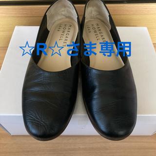 MARGARET HOWELL - 美品 マーガレットハウエル ローファー パンプス 黒 通勤靴 仕事靴