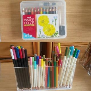 ミツビシ(三菱)の三菱UNI水彩色鉛筆含む色鉛筆セット(色鉛筆)