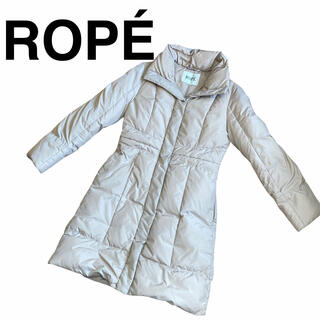 ロペ(ROPE)のROPE ロペ ダウンコート ダウン90% ベージュ 36(ダウンコート)