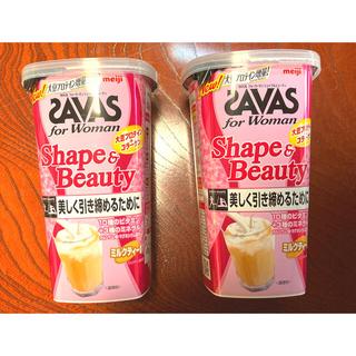 ザバス(SAVAS)の【はるる様専用】ザバス シェイプ&ビューティー ミルクティー風味 252g✖️2(プロテイン)