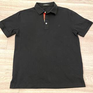 バーバリーブラックレーベル(BURBERRY BLACK LABEL)のBURBERRY BLACK LABEL メンズポロシャツ 半袖 黒 ブラック(ポロシャツ)