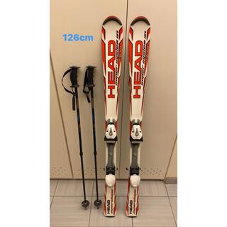 ヘッド(HEAD)の【126cm】スキー板、ストックセット【HEAD】(板)