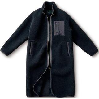 フェリシモ(FELISSIMO)の【大人気】漆黒のボアコート:Lサイズ(試着のみ)(ロングコート)