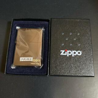 ジッポー(ZIPPO)の【新品未使用】2004年製 ZIPPO チタン仕上(タバコグッズ)