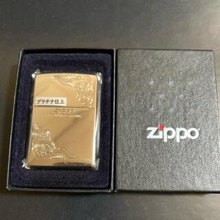ジッポー(ZIPPO)の【新品未使用】2005年製 ZIPPO プラチナ仕上(タバコグッズ)