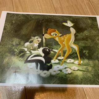 ディズニー(Disney)の非売品 ディズニー バンビのポスター アートコレクション(絵画/タペストリー)