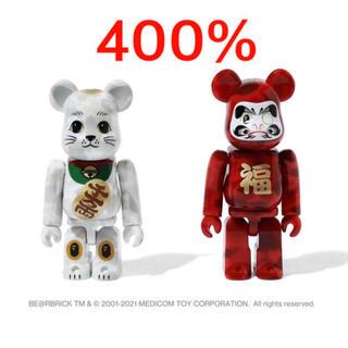 2セット ape   bape ベアブリック   400% 招き猫 達磨 (その他)