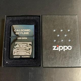 ジッポー(ZIPPO)の【新品未使用】ZIPPO CALSONIC SKYLINE 1999年製(タバコグッズ)