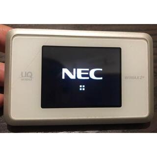 エヌイーシー(NEC)のUQ WiMAX 2+ Speed Wi-Fi NEXT WX03 ホワイト(PC周辺機器)