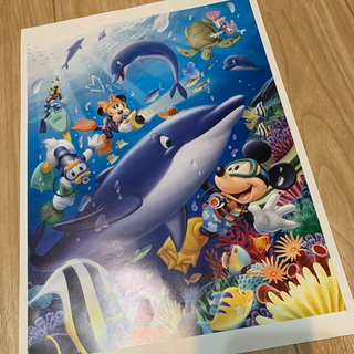 ディズニー(Disney)の非売品 ディズニー ミッキーと仲間達のポスター アートコレクション(絵画/タペストリー)