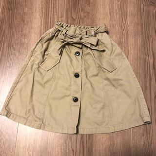 GU - スカート 150cm 女の子 合わせやすいベージュ