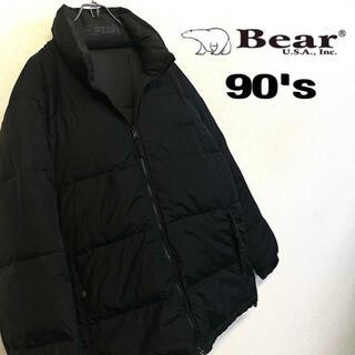 ベアー(Bear USA)の美品 90's Bear USA ダウンジャケット メンズLL ブラック(ダウンジャケット)