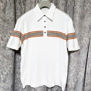 バーバリーブラックレーベル(BURBERRY BLACK LABEL)のBURBERRYブラックレーベル ロゴラインポロシャツ(ポロシャツ)