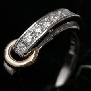 ポンテヴェキオ(PonteVecchio)の💜期間限定SALE💜《VERITE》H&C ダイヤリング K18 WG/PG(リング(指輪))