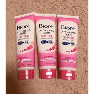 ビオレ(Biore)のビオレ メイクも落とせる洗顔料 つるすべ美肌 ☺︎(洗顔料)