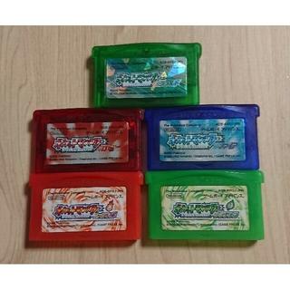 ゲームボーイアドバンス(ゲームボーイアドバンス)のポケットモンスター ゲームボーイアドバンス 全五種類 セット(携帯用ゲームソフト)