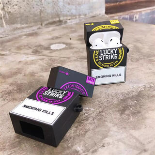 luckystrike AirPods 1・2  エアーポッズ ケース(ヘッドフォン/イヤフォン)
