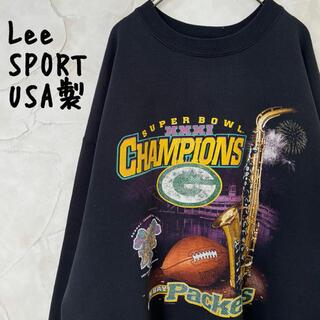 リー(Lee)の【LeeSPORT】USA製 スウェット トレーナー NFL 裏起毛ブラックXL(スウェット)