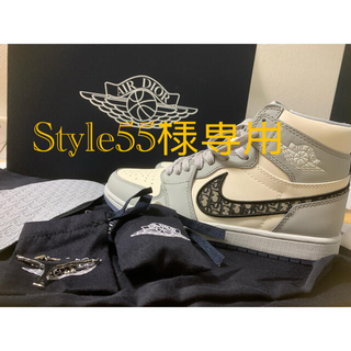 クリスチャンディオール(Christian Dior)のAir Jordan 1 High OG Dior  style55様 専用(スニーカー)