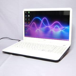 エヌイーシー(NEC)のNEC Lavieノート ホワイト Core-i3 Wifi マウス付き(ノートPC)