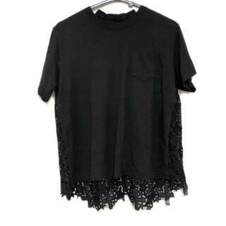 サカイ(sacai)のサカイ 半袖カットソー レディース 黒(カットソー(半袖/袖なし))